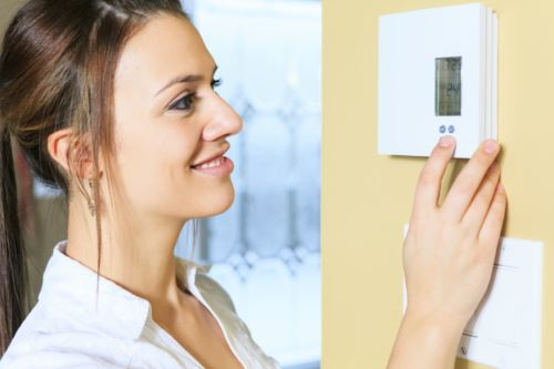 thermostat woman