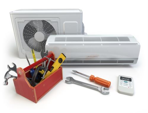 Hvac unit with tools